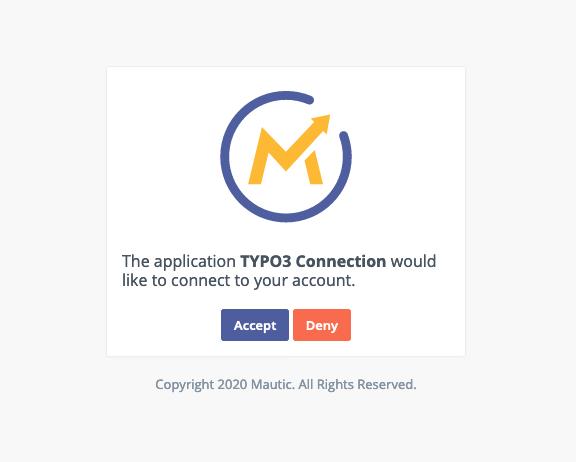 Zugriff von TYPO3 auf Mautic erlauben