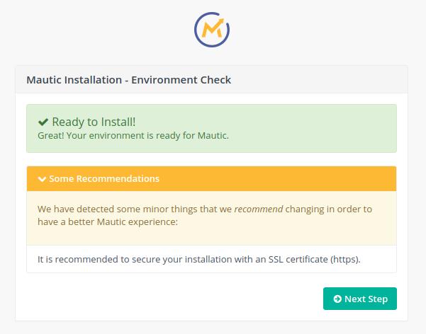 Mautic Environment Check