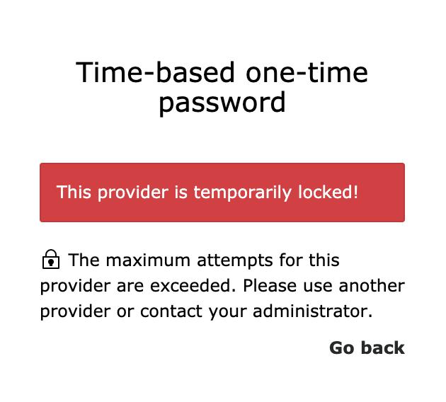 provider temporarily locked