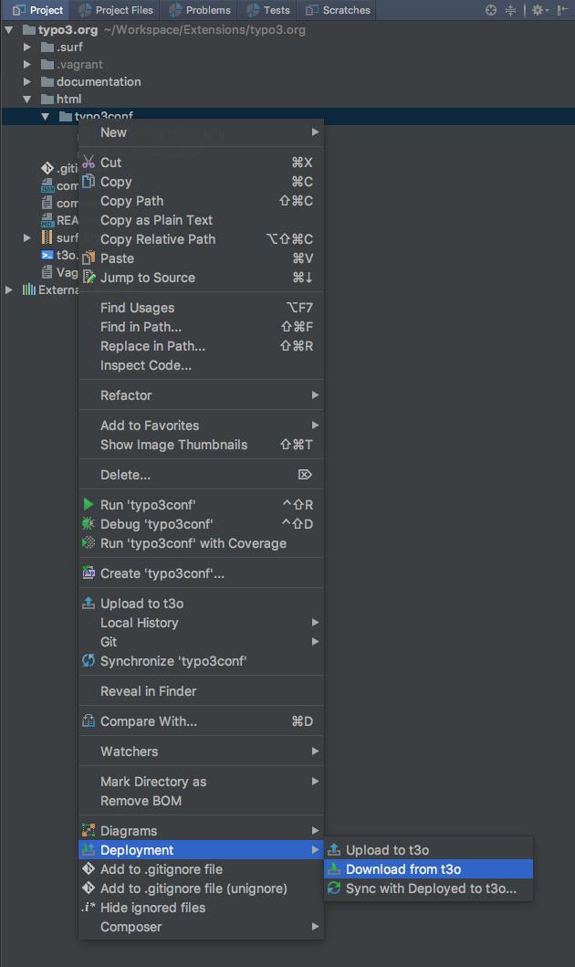typo3.org Entwicklerbox: Anleitung zum Kopieren der Daten