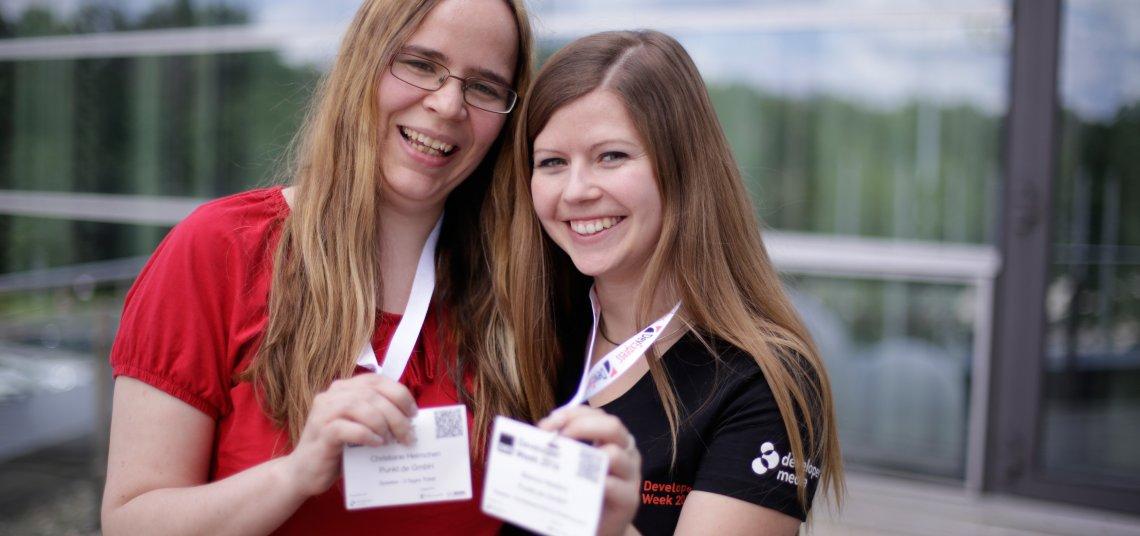 Christiane Helmchen und Bianca Niestroj als Speaker bei der Developer Week