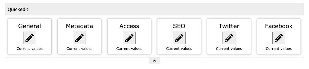 Toolbar für Standard-Seite