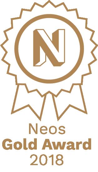 Logo vom Neos Gold Award 2018
