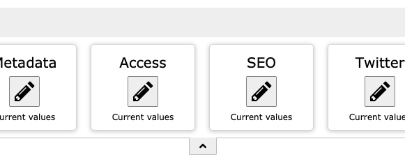 A toolbar for page properties in TYPO3