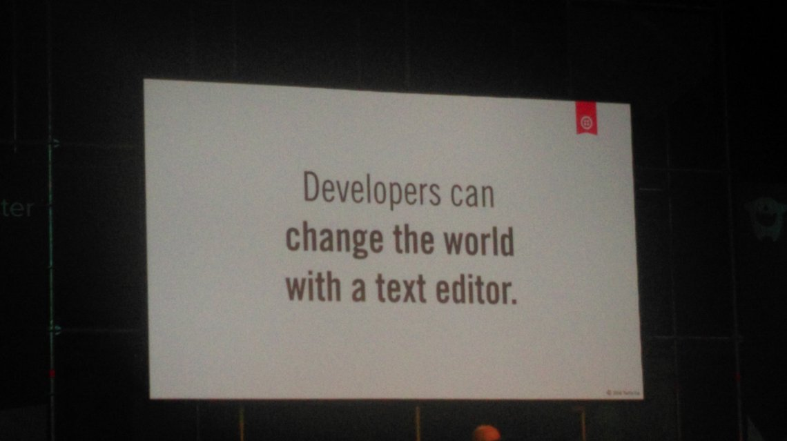 Websummit talk: Developers can change the world with a texteditor