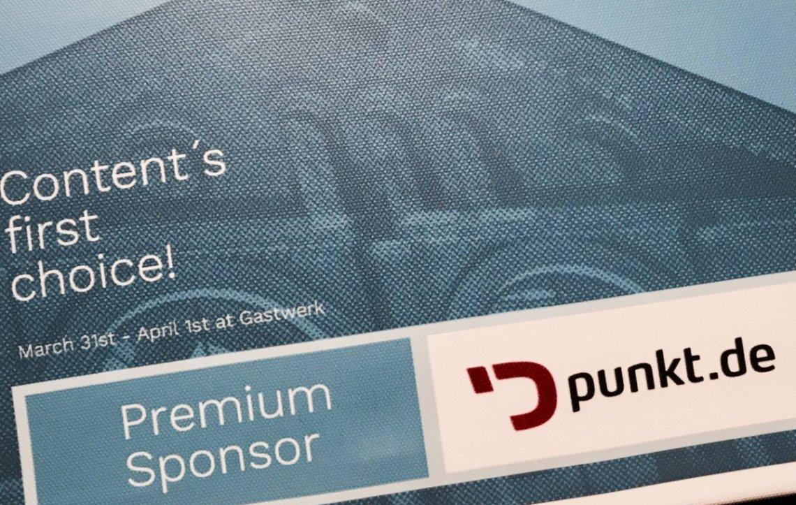 Werbung als Premium Sponsor