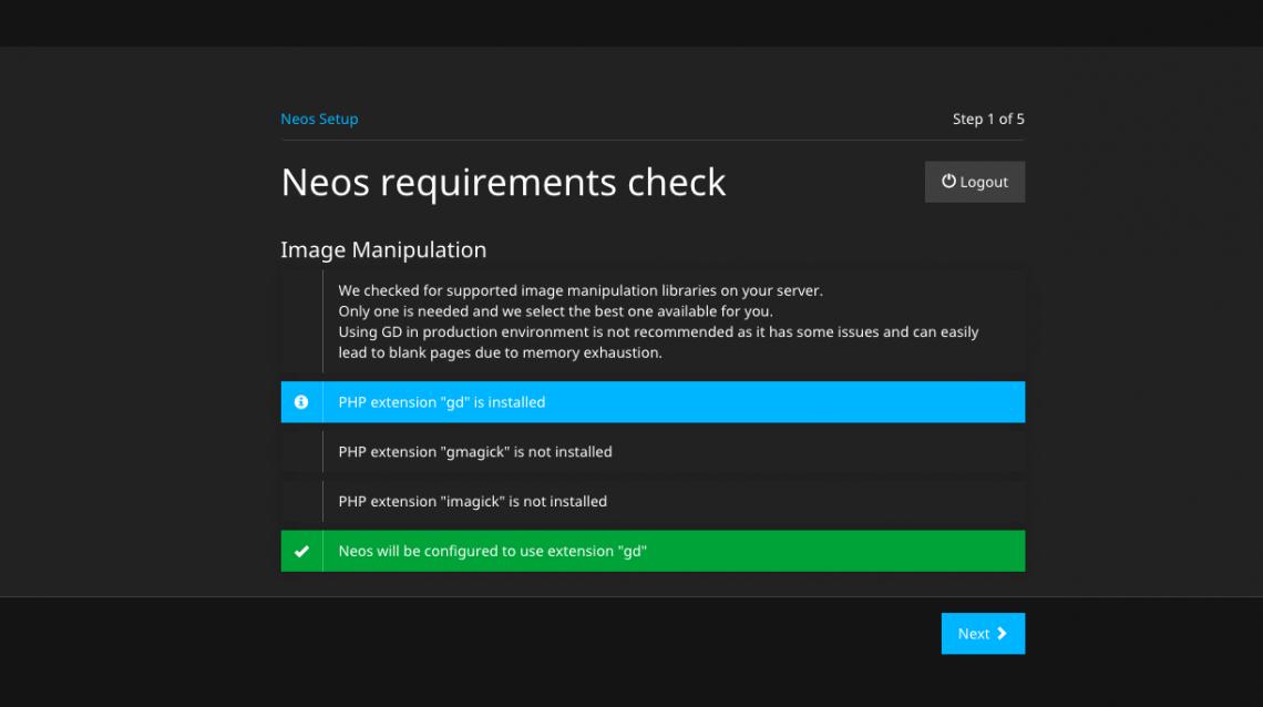 Schritt 1: Auflistung der verfügbaren Grafikbibliotheken - ein Screenshot