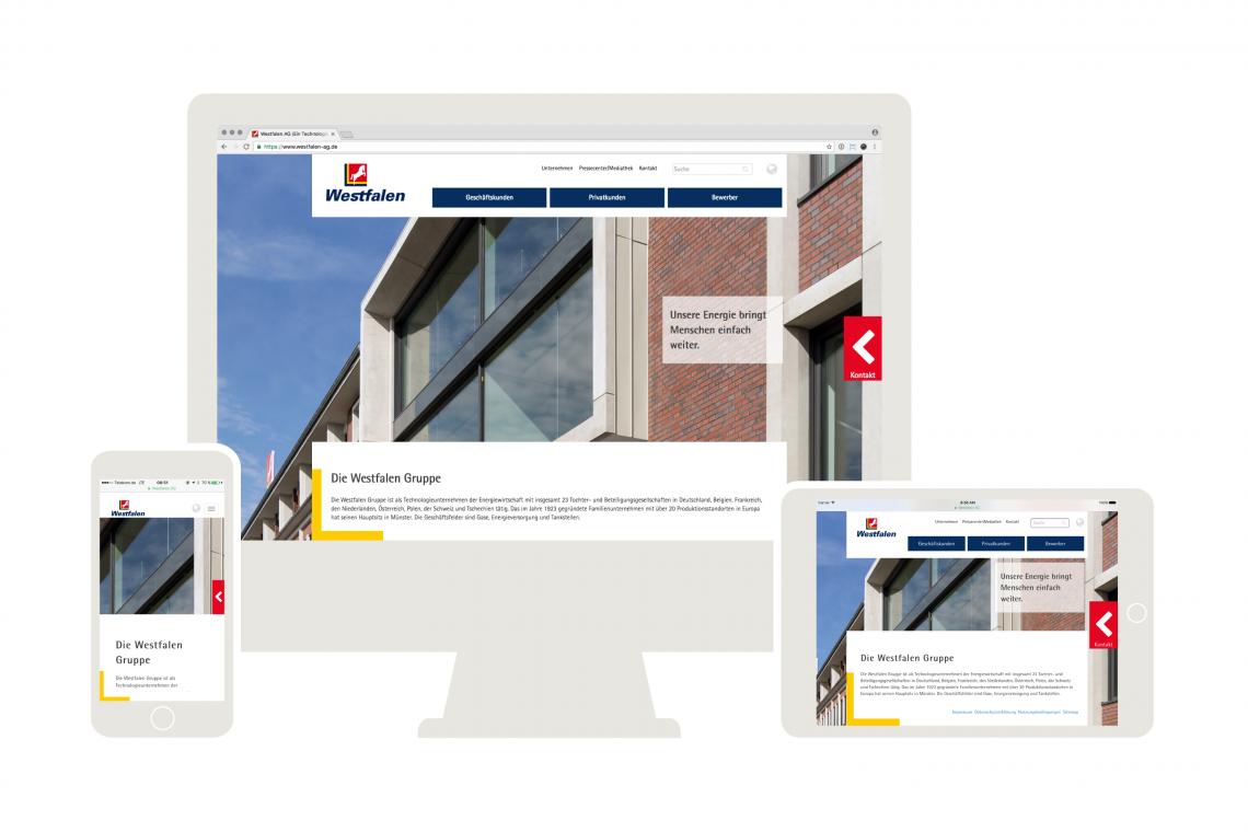 Die neue Westfalen AG Webseite: full responsive