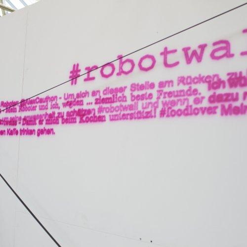 Wand mit #Robotwall anstrich